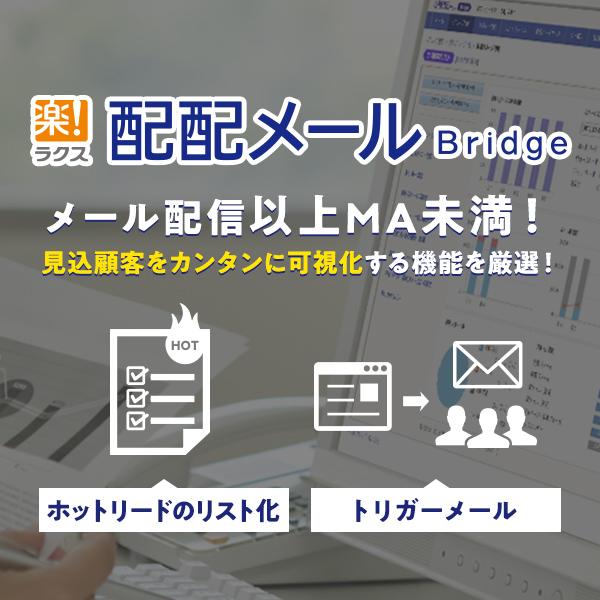 配配メールBridge メール配信以上MA未満!見込み顧客をカンタンに可視化する機能を厳選!