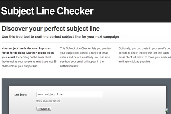 Subject Line Checker