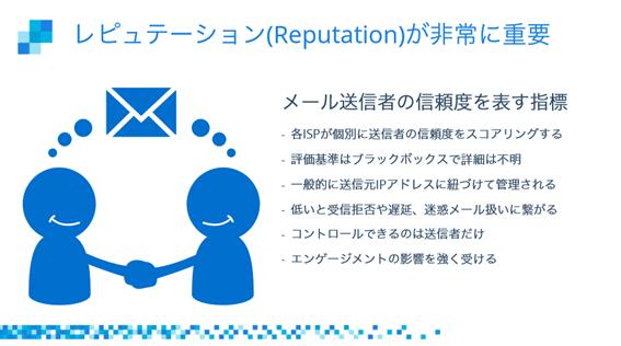 配信したメールを確実に相手の受信ボックスに届けるには、レピュテーションが重要
